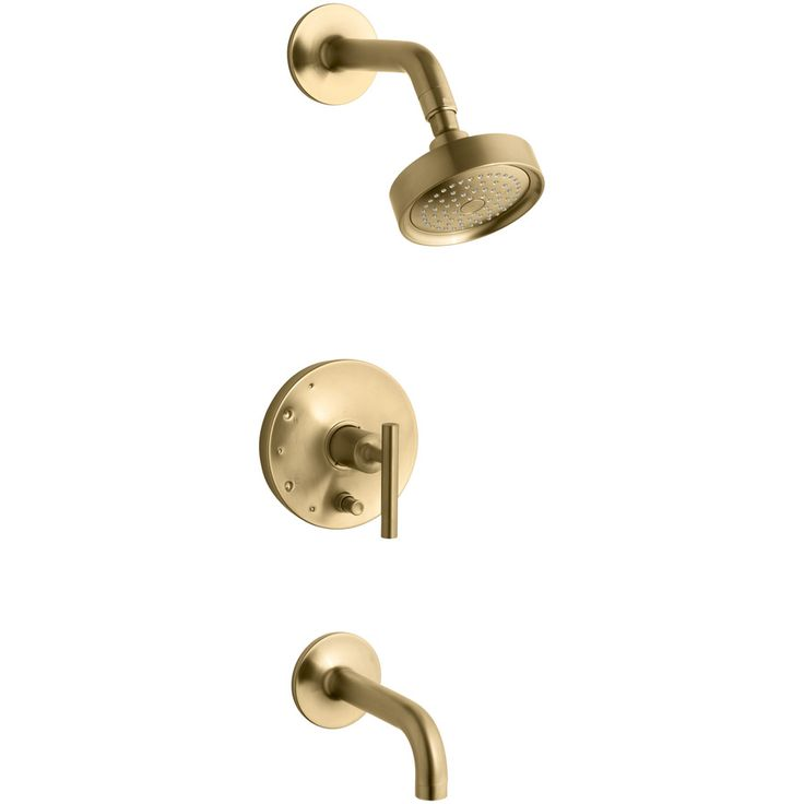 $690 from lowes. KOHLER Purist Vibrant Moderne Brushed Gold 1-Handle Bathtub and Shower Faucet Trim Kit with Single Function Showerhead
