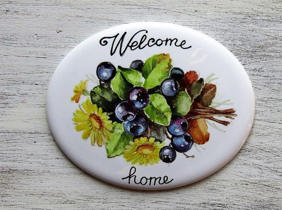 Welcome home personalized house sign Hand by LaTavolozzaShop