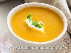 Sopa Emagrecedora de Frango,Batata-Doce, Cenoura e Gengibre. | Receitas - Dietas - Gastronomia - Brasil na Mesa