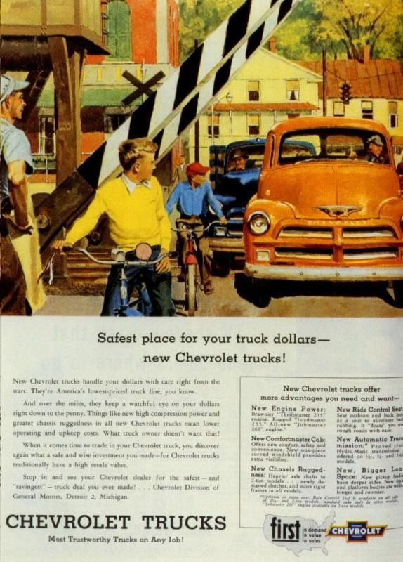 1954 Chevrolet Truck Ad1954 Chevrolet, Carse Trucks Automobiles, Vintage, Cars Ads, Chevy Ads, Chevrolet Trucks, Chevrolet Cars, Head Turn Style, Chevy'S Gmc Trucks