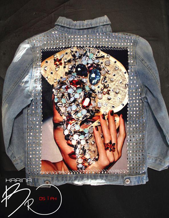 """Купить Джинсовая куртка """"Vogue"""" - рисунок, джинса, джинсовый стиль, куртка, джинсовая куртка, стиль"""