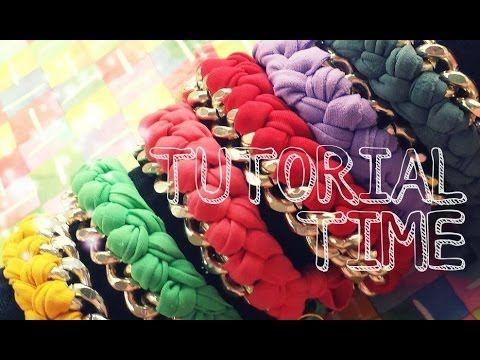 TUTORIAL TIME 1# - Bracelet chain and lycra / Bracciale con catena e fet...