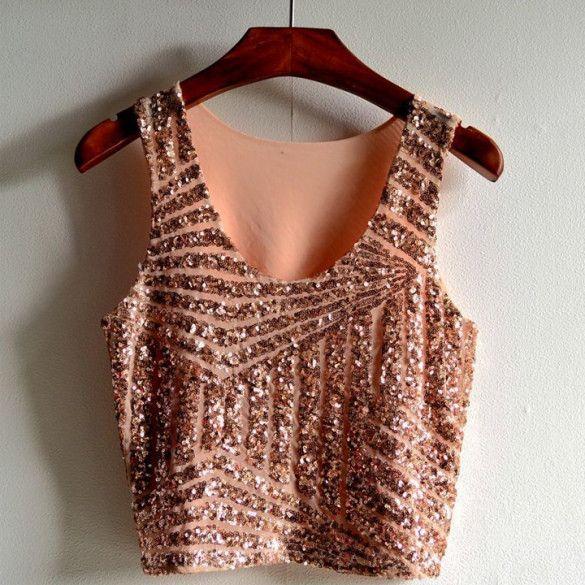 FANALA Summer Crop Top Women's Sequin Tank Tops 2017 Sling Camisole Sexy Camis Vest T-Shirt Slim Crop Tops