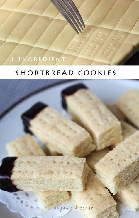 3-Ingredient Scottish Shortbread Recipe - Eggless Holiday Cookies