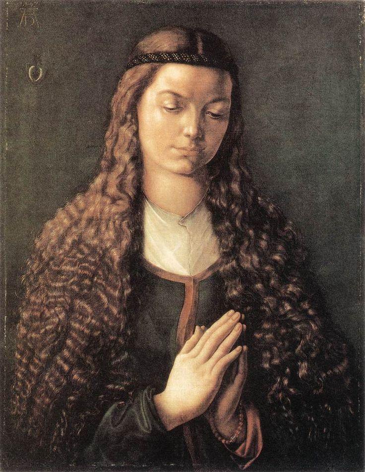 Albrecht Durer -Portrait of a Young Fürleger with Loose Hair (1497)