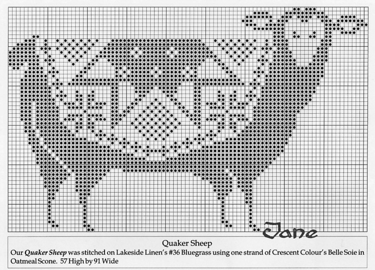25+ beste idee?n over Sheep Cross Stitch op Pinterest - Punto cruz, Kruisstee...