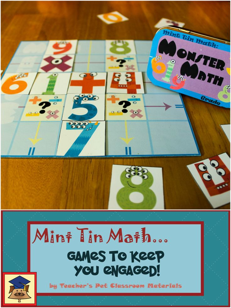 In Monster Math students test their math skills as they take turns placing their monster digits and operation signs on the board. But digit and operation signs affects the player's opponent's equations as well as his or her own.  The monster mathematician whose equations total the highest at the end of the game is the winner!