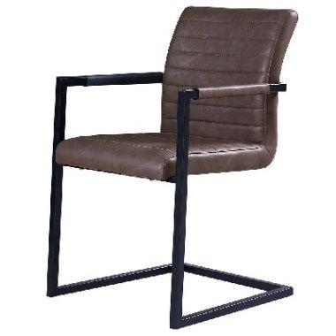 Eetkamerstoelen : Aroldo stoel bruin-grijs