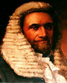 During the Eureka Rebellion, the rebel leader was Irishman Peter Lalor: This image is of Eureka leader Peter Lalor in later life as Speaker of the Legislative Assembly of Victoria.