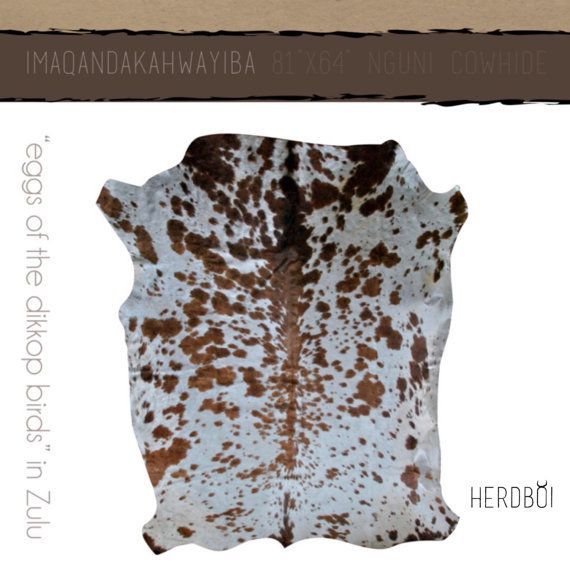 Cowhide Rug Large African Nguni hide with light brown by Herdboi