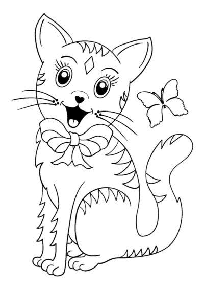 Download Denne Tegning Af En S 248 D Lille Kat Og En