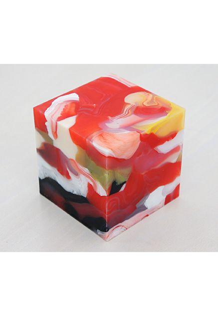 Mini-Cube 12-2-4 , PSR (Platinum Silicone Rubber), 10×10×10 cm, 2012 / Matthias van Arkel
