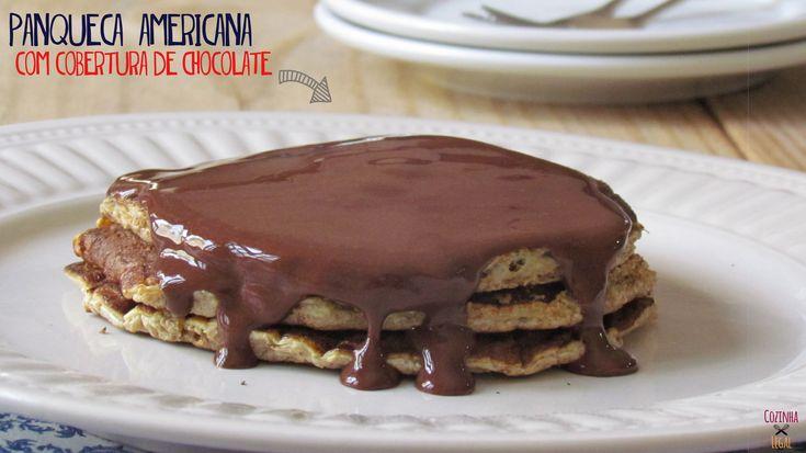 Panqueca Americana com cobertura de chocolate (Dukan) | cozinhalegal.com.br