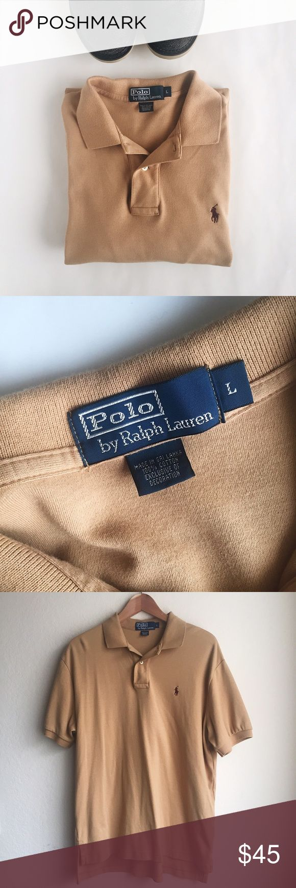 Polo Ralph Lauren cotton polo shirt Polo Ralph Lauren | Pima soft-touch short sleeve polo shirt in Tan. Relaxed fit. In very good used condition.   Size: L  - Ribbed polo collar - Short sleeves with ribbed armbands - Two-button placket - Tennis tail - 100% cotton Polo by Ralph Lauren Shirts Polos