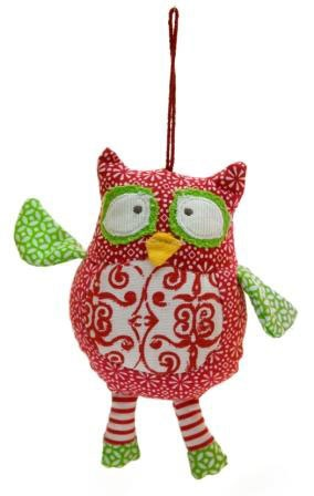 Christmas Owl Decoration. @Camille Sylvester-Williams -- your two favorite things put together!!!
