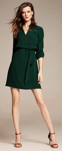 green shirtdress. i may be able to pull this off...maybe