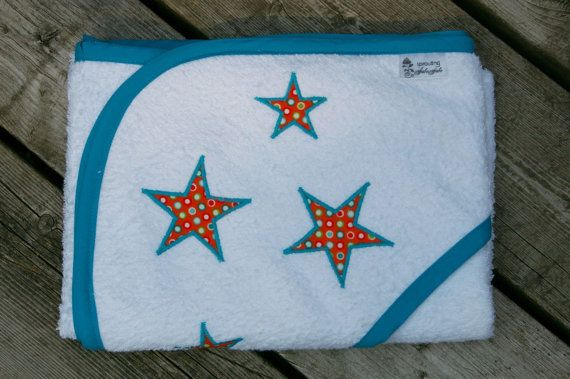 over sized hooded towel- stars
