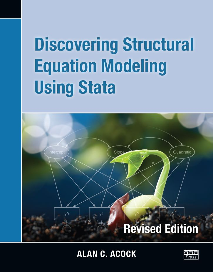 introduces both the statistical principles involved in structural equation modeling (SEM) and the use of Stata to fit these models. The book uses an application-based approach to teaching SEM.  Cote : 212.85 ACO