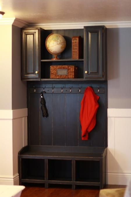 mudroom area do it yourself home projects from ana white. Black Bedroom Furniture Sets. Home Design Ideas