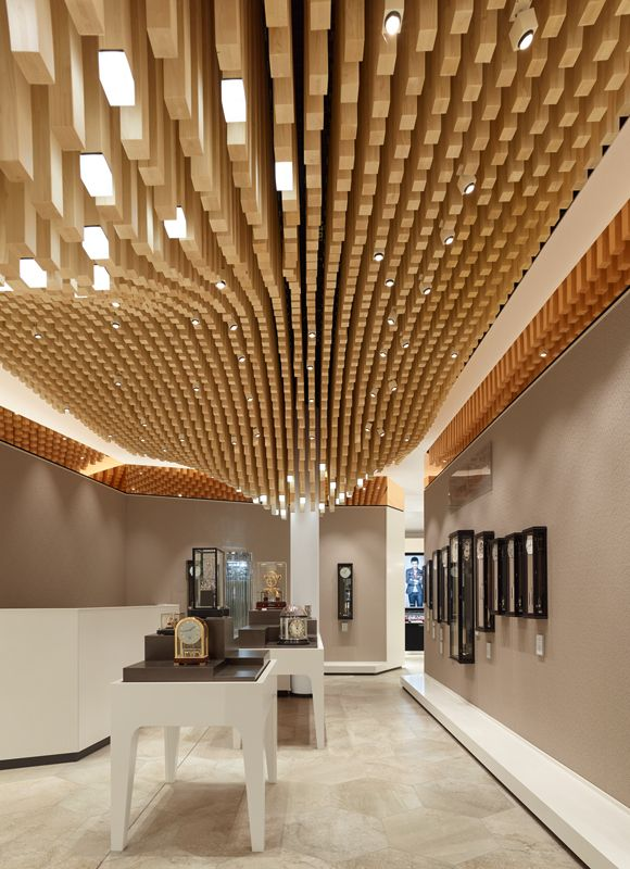 Drubba Moments By Ippolito Fleitz Group Interior Design Ceiling In 2019 Wood Slat Ceiling