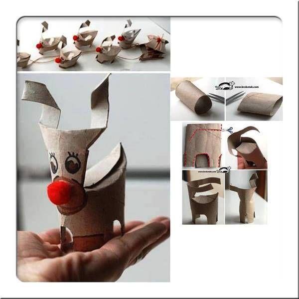 karácsonyi dekorációk wc papír gurigából - Google keresés