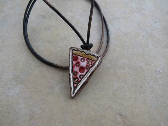 Pizza Slice Diffuser Pendant, Aromatherapy Pendant, Pizza Necklace, Perfume Necklace, Aromatherapy Jewelry, Gift For Kids, Pizza Lover Gift