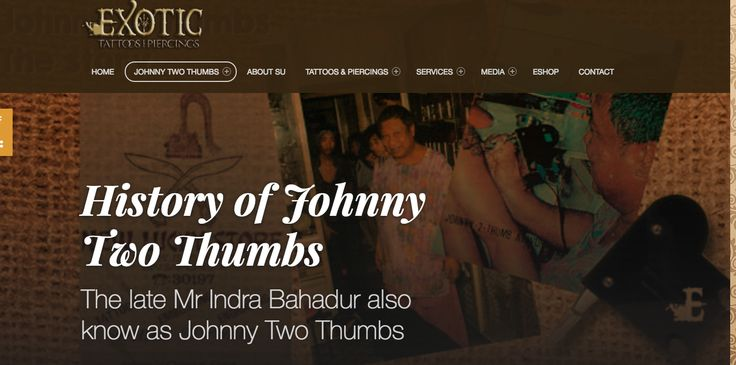 Johnny Two Thumbs Tattoo Studio Singapore.The history of Singapore's first tattoo artist.Sumithra Debi , Sutattoo granddaughter. http://exoticpiercing.tattoo/web/johnny-two-thumbs/johnny-two-thumbs-the-origin/