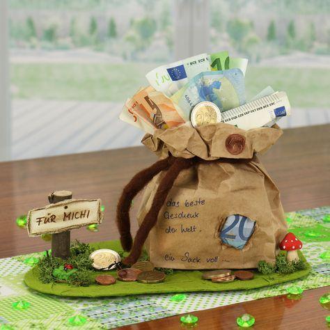 Eine Pfiffige Geldgeschenke Geburtstagsidee zum Nachbasteln. Mit nur wenigen Bas…