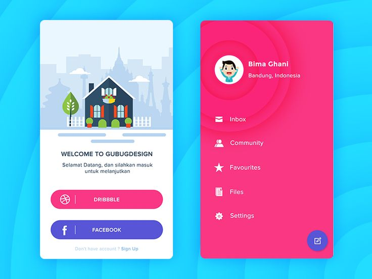Login and profile app design by Andika Satriatama