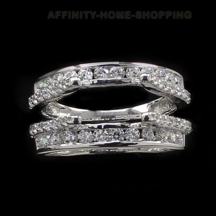 NEW BRAND Sterling Silver Ring Guard Set w/Cubic Zirconia (0.49ct twt) Certified #AffinityHomeShopping #RingGuard