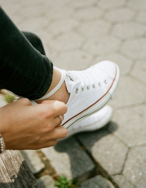 White Converse All Star Low Top Sneakers
