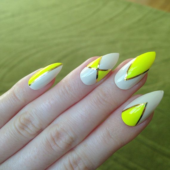 Neon Yellow False Nails Summer Fake Nails by prettylittlepolish