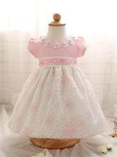 0-2 anos flor lace girl dress crianças roupas de verão para a princesa da festa de aniversário crianças recém-nascidas arco traje bonito tutu dress(China (Mainland))