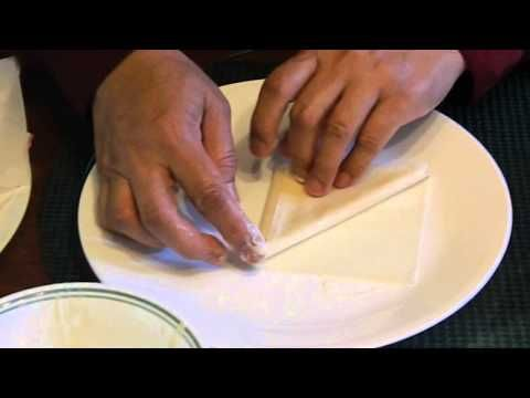 How To Make Samosa With Spring Roll Shell Pastry Sheets - YouTube
