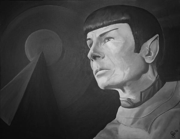 Spoke IDIC  Original piece painted for a dear friend's birthday. She was a complete Star Trek / Spock fan and loved the concept of IDIC incorporated into the work.