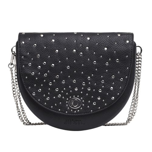 J-Hoop black with ecoleather with studs flap.