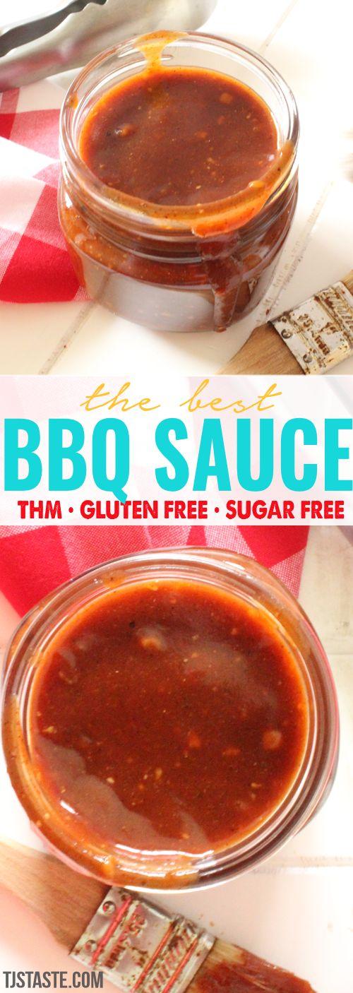 The Best Homemade Sugar Free Barbecue Sauce THM FP Trim Healthy Mama Recipe via @TJsTaste