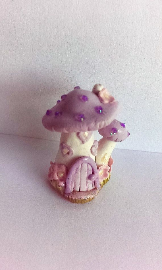 lavender Fairy house miniature fairy house by Wondoughful on Etsy