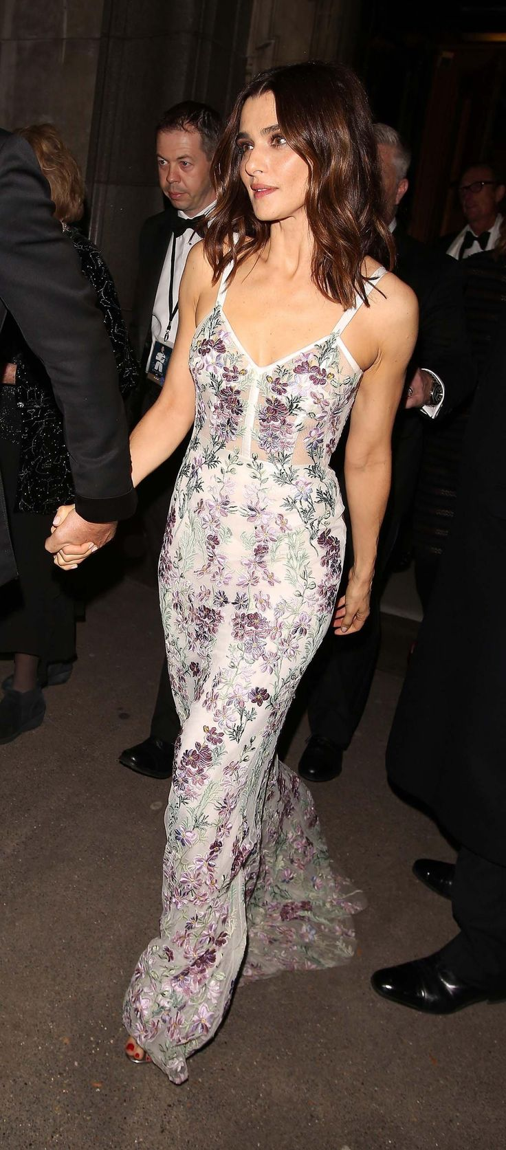 Rachel Weisz in a floral Alexander McQueen dress