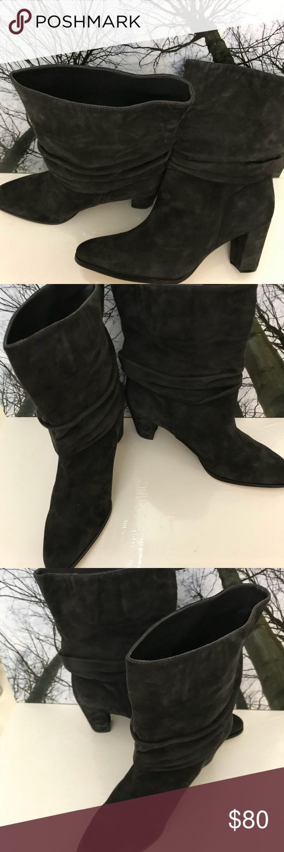 "NWOT- Authentic- Suede Leather Calf Boots NWOT- Authentic Ivanka Trump Suede Leather Calf Boots in Excellent Condition, brand New Pair. Heel:3"" Size:9 Ivanka Trump Shoes Heeled Boots"