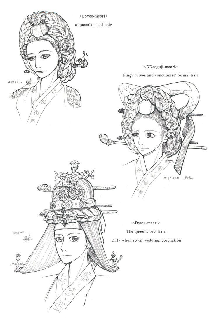 Hanbok, A Queen's Hair by Glimja on deviantART