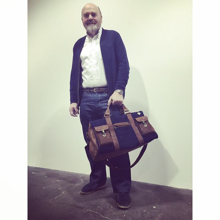 "Kjøre Project meet Adriano Goldschmied ""the Godfather of denim"" created Diesel,Replay, Gap, and AG Adriano Goldschmied.  KingPins NY! #kjore #kjoreproject #kingpins #NY #fair #denim #denimlovers #travelbag #handmade @kjoreproject @blue.selvedge"