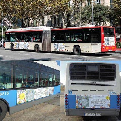 Si vivís en Madrid o Barcelona, veréis autobuses que anuncian #ElOceanoPerdido de @johannabasford #arteterapia #colorear #relajación #mycreativeescape