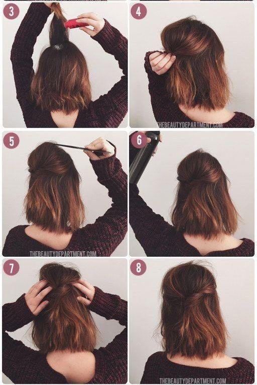 17 Schone Einfache Und Schnelle Frisuren Fur Kurzes Haar Schnelle Frisuren Fur Kurze Haare Schulterlange Haare Frisuren Flechten Frisuren Kurze Haare Flechten