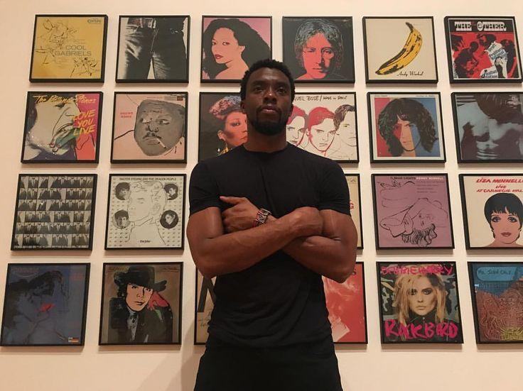 """27k Likes, 122 Comments - Chadwick Boseman (@chadwickboseman) on Instagram: """"#Warhol exhibit 🎨 #ATL 📷: @realaddison"""""""