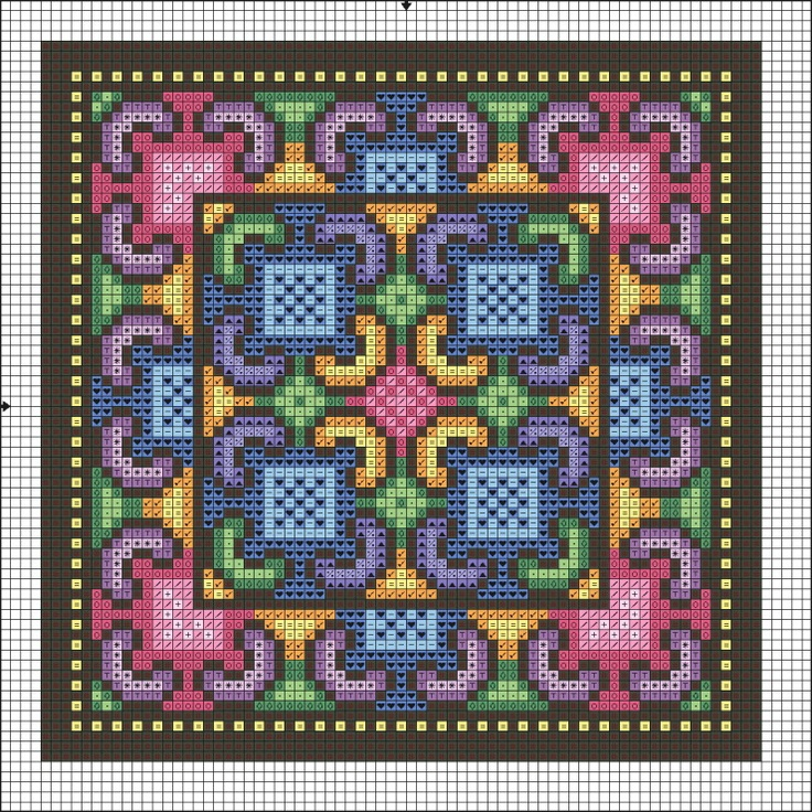 Cross-stitch Colorful Block ... no color chart available, just use the pattern chart as your color guide..   Gallery.ru / Фото #11 - Отшитые схемы 1 - livadika
