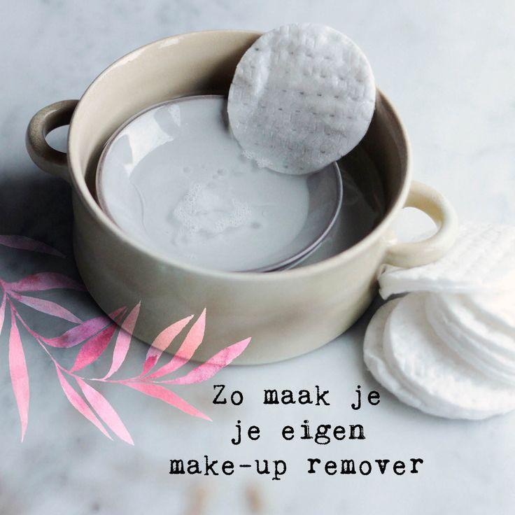 Make your own makeup remover #happinez - Er is maar één manier om zeker te weten welke ingrediënten je (huishoudelijke) spullen bevatten: maak ze zelf. Kyra de Vreeze - ze schreef ooit 'Daytox' over het ontgiften van je lichaam - geeft elke week een recept voor het ontgiften van je omgeving: van wasmiddel tot tandpasta tot muggenspray.