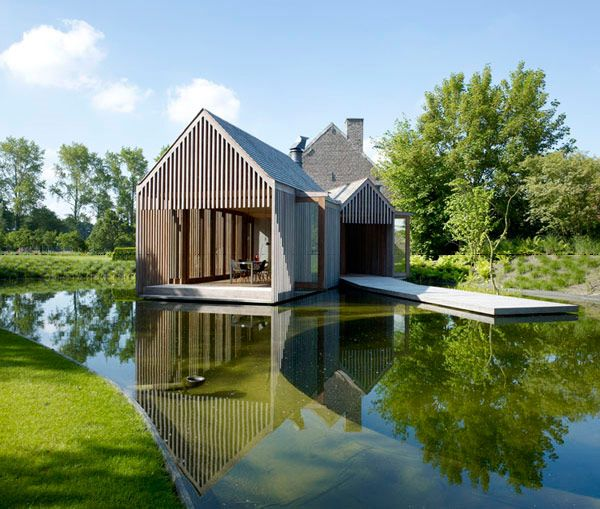 Not so small, but it could be sized down : ) Home designed by Belgium-based Wim Goes Architectuur