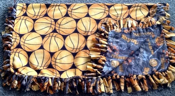 Basketball fleece tie blanket reversible by #Simpleesweetboutique get yours here, https://www.etsy.com/listing/208779503/basketball-fleece-tie-blanket-reversible?utm_source=Pinterest&utm_medium=PageTools&utm_campaign=Share
