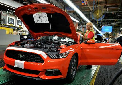 Our first 2015 Mustang, a Competition Orange GT, is in production now... could THIS be it? We sure hope so, it will be one of the first delivered in So Cal! Stay tuned, we'll keep you posted Pony fans! ;)  #2015Mustang   #MustangInspires   #2015MustangInRiverside   #Mustang_For_Sale_In_Riverside   #InlandEmpire